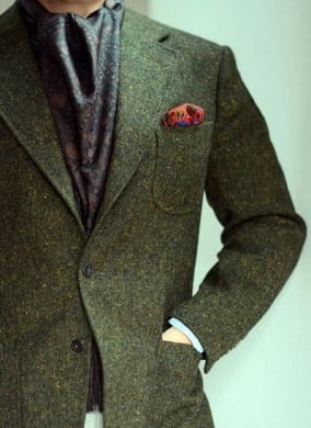 bespoke-tailored-suit-jacket-Green-Donegal-Voxsartoria-1-thumbnail
