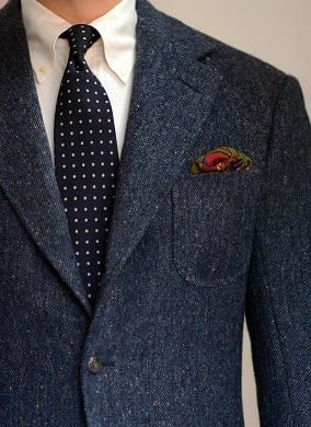 houndstooth navy bespoke suit savile row steed tailors