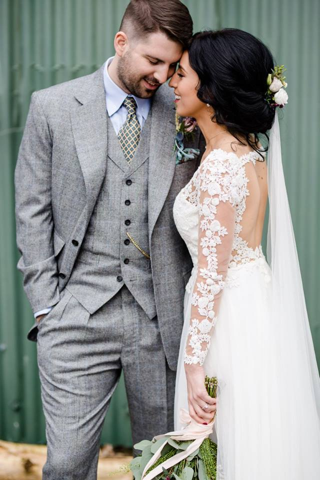 bespoke wedding suit couple photo savile row